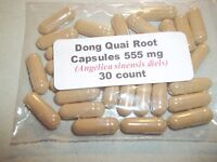 Dong Quai Root Powder Capsules (Angelica sinensis) 555 mg.  30 count