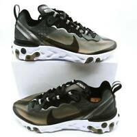 Nike Mens React Element 87 Running Shoes Black AQ1090-001 Lace Up Size 14 New