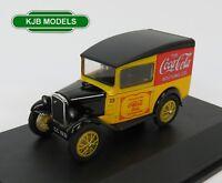 BNIB O GAUGE OXFORD DIECAST VEHICLE 1:43 43ASV008CC Austin Seven Van Coca Cola