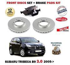 FOR SUBARU TRIBECA 3.0i B8 1/2005> NEW FRONT BRAKE DISCS SET+ BRAKE PADS KIT