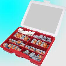 Wago Klemmen Set 222 412/413/415 + 224 101/112 (54 oder 80 Teile) Set mit Box