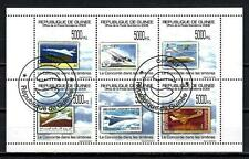 Avions Guinée (65) série complète de 6 timbres oblitérés