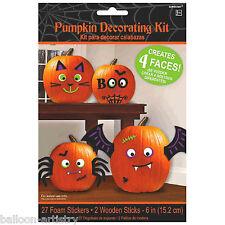 29 Piece Haunted Halloween Foam Sticker Stick-on Pumpkin Decorating Kit