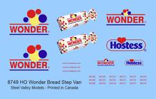 Svm-8749 Ho Scale Wonder Bread Step Vans Decals - single set- Decals Only