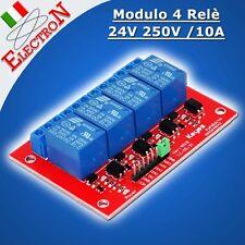 Modulo 4 Relè 24V - 250V/10A OPTO Relay Module x Arduino Pic Atmega Raspberry