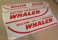 "Boston Whaler Vintage Boat Decals Die-Cut 4-Pak 18"" FREE SHIP + Free Fish Decal!"