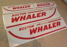 "Boston Whaler Vintage Boat Decals Die-Cut 4-Pak 24"" FREE SHIP + Free Fish Decal!"