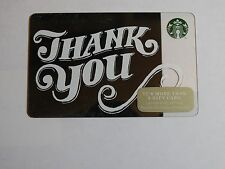 2014 - Thank You Scripted - Holiday Issue Starbucks Cards - New & Never Swiped