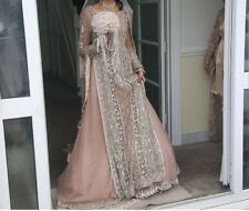 Indian Pakistani Wedding Dress Dusky Pink and Pastel Grey