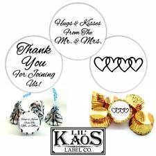 108 Hugs Kisses Mr. Mrs. Thank You Wedding Sticker Label Kiss Candy Mints Favors