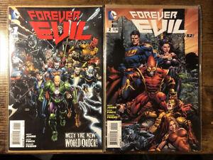Forever Evil #1 2 DC EPIC EVENT Comic Book 1,2 Beautiful Copies. Superman