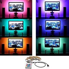 DC 5v 5050 RGB TIRA DE LUCES LED Tv Parte Trasera Kit iluminación + USB IR