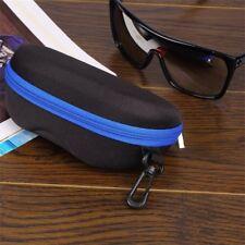 Portable Zipper Eye Glasses Sunglasses Clam Shell Hard Case Protective Box 7b