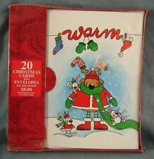 Boxed Christmas Cards Warm Reindeer & Friends 20 Cards & Envelopes