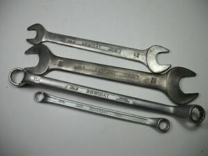 Set 4x Dowidat No.6 Open End Wrench No.2 220 Ring Spanner Germany