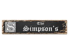 SP0751 The SIMPSON'S Family name Sign Bar Store Shop Cafe Home Chic Decor