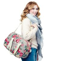Womens Overnight Canvas Holdall Ladies Maternity Travel Bag Hand Luggage Handbag