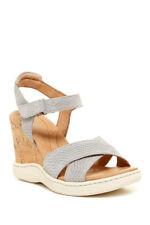 NEW Born Coltyn Women US Size 10 Light Gray Cork Wedge Sandal $115