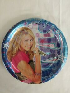 "Hannah Montana Dessert Plate 7 "" Birthday Party New Free Shipping"