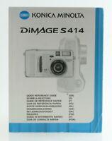 Bedienungsanleitung Konica Minolta Dimage S 414 S-414 S414 Anleitung Instruction
