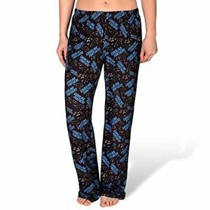 Forever Collectibles NFL Women's Carolina Panthers Repeat Print Logo Comfy Pants