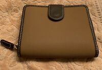 Bric's Ladies Bi-Fold Fabric & Leather Wallet Brown Italy No Box NWOT