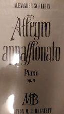 Scriabin: Allegro Apassionato: Piano: Opus 4: Music Score (C4)