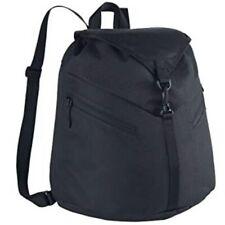 Nike BZ9772-001 Backpack Black Azeda 100 Nylon Gym Work School Run Light Weight