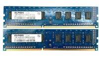 Elpida 2GB RAM - 1Rx8 PC3-10600U DDR3 - (2X1GB DIMM)