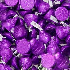 Hersheys kisses Purple dark chocolate 2 lb pound kosher  200 pieces purple candy