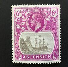 Ascension George V 1924 6d Grey Black & Purple M/M SG 16. (cat £60)