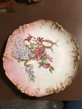 """Limoges PHL France 7 3/4"""" Floral Plate"""