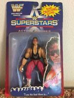 WWF Superstars 1996 Jakks Bret Hitman Hart ActionFigure Bone CrunchingSounds New