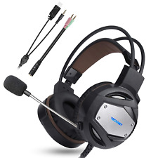 TeckNet Gaming Headset 3.5mm Stereo Sound Over Ear Headphones High Sound Quality