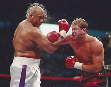 TOMMY MORRISON vs GEORGE FOREMAN 8X10 PHOTO BOXING PICTURE
