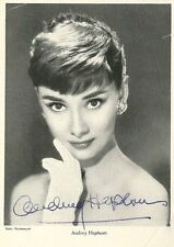 "AUDREY HEPBURN original autograph signed vintage postcard ""Sabrina"" 1954"