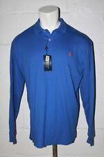 NWT Polo Ralph Lauren Interlock Blue Long Sleeve Polo Golf Shirt Sz L Large