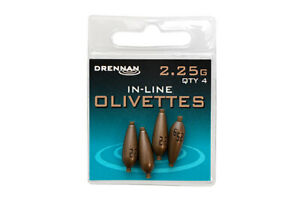 Drennan Match & Coarse Fishing Engraved Inline Olivettes - All Sizes