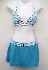 JAG Blue Pattern Cross-back Bikini Swimsuit L Cup C NEW