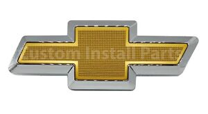 Gold Textured Front Grille Bowtie Emblem Badge Fits Chevy Colorado 2004-2012