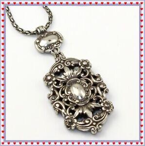 Brighton Silver Pendant Vintage Necklace