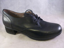 NEW DANSKO WOMEN'S LOUISE LACE-UP OXFORD BLACK BURNISHED LEATHER 39 9 MED $150