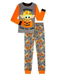 Baby Yoda HALLOWEEN Pajamas Boy's Girl's Size 4 6 8 10 Mandalorian Star Wars NWT