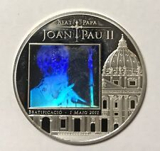 2011 5 DINERS - ANDORRA - POPE JOHN PAUL II - HOLOGRAM - PROOF SILVER - Lot#A325