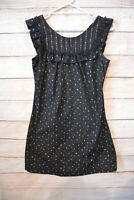 Revival Dress Size 10 Medium Black White Red Floral Sleeveless Shift Dress