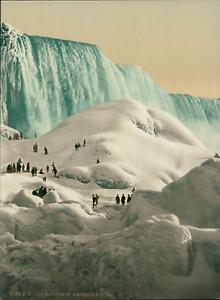 États-Unis, New York, Niagara Falls, Ice Mountain.  P.Z. vintage photochromie, U