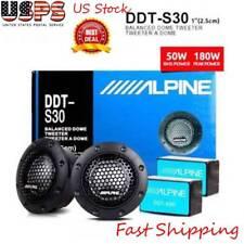 """ALPINE DDT-S30 1"""" 360W Soft Dome Balanced Car Tweeters Sound Modified Speaker US"""
