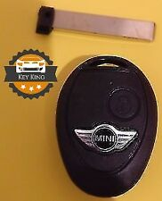 BMW MINI COOPER CLUBMAN JCW R50 R53 S ONE 2 BUTTON REMOTE KEY FOB CASE + LOGO