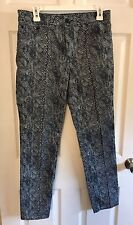 TORY BURCH – Size 29 –  SKINNY JEANS.blue white leopard print
