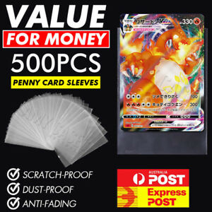 100 x Ultra Clear Trading Sleeves Soft Penny Card Protector Pack Pokemon YuGiOh